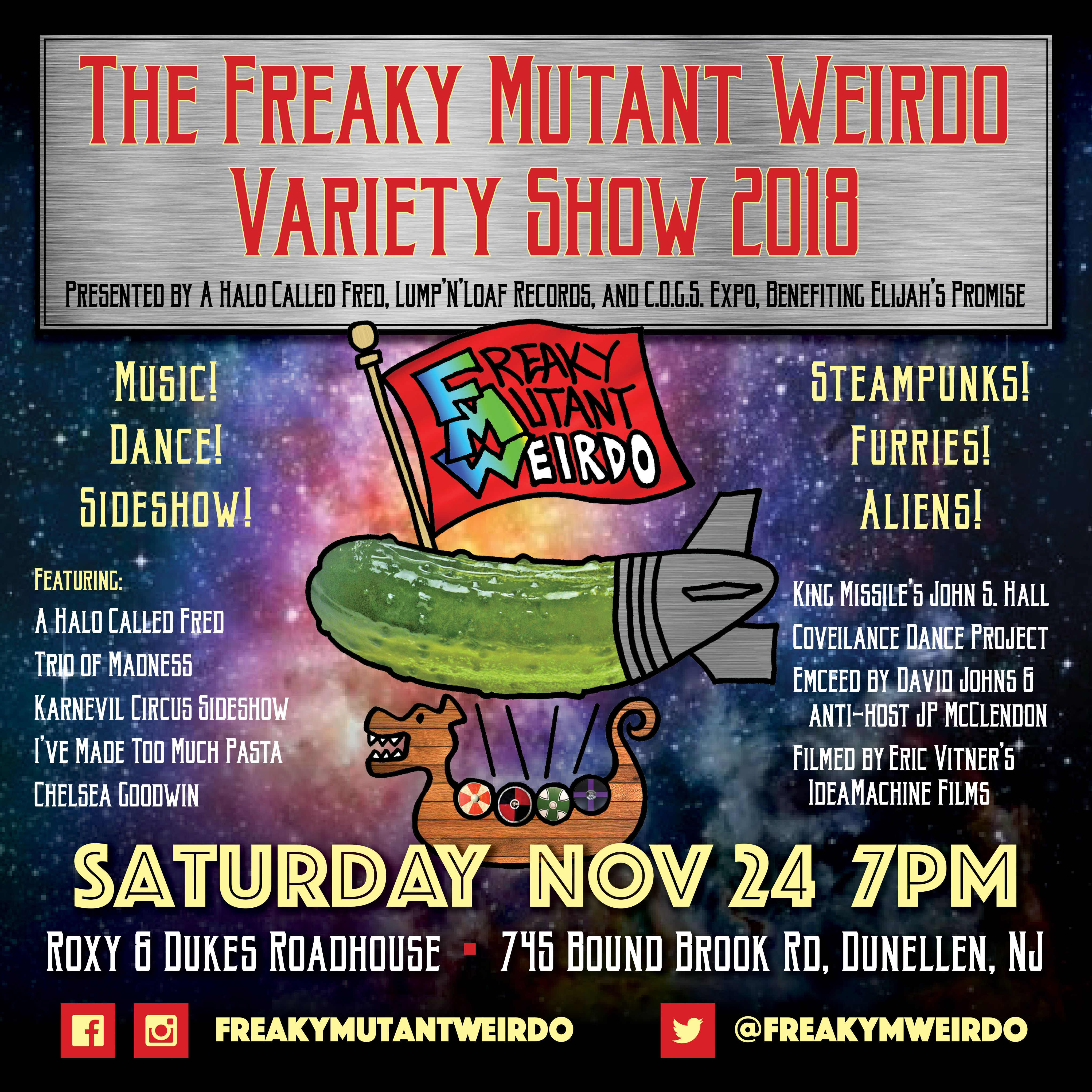 It's Back! It's the Freaky Mutant Weirdo Variety Show 2018