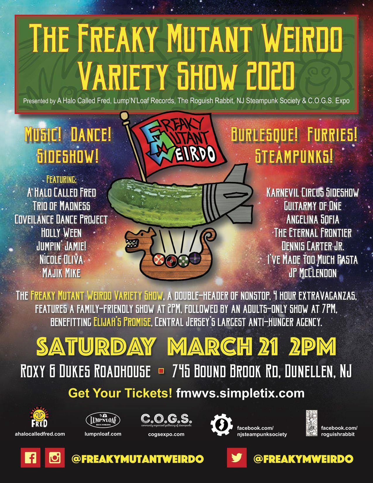 Get Ready for the 3rd Annual Freaky Mutant Weirdo Variety Show!