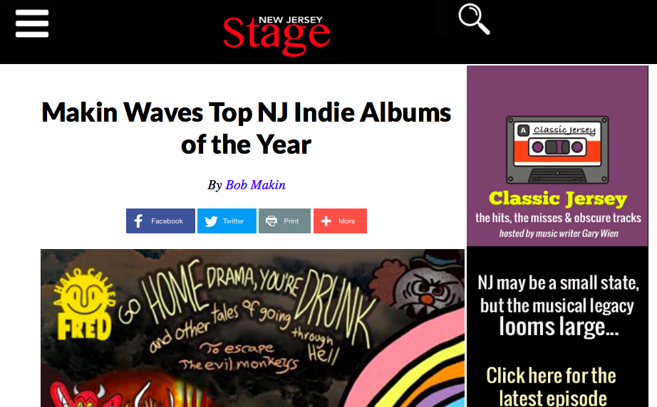 Halo's Drama Named Top NJ Indie Album of the Year!